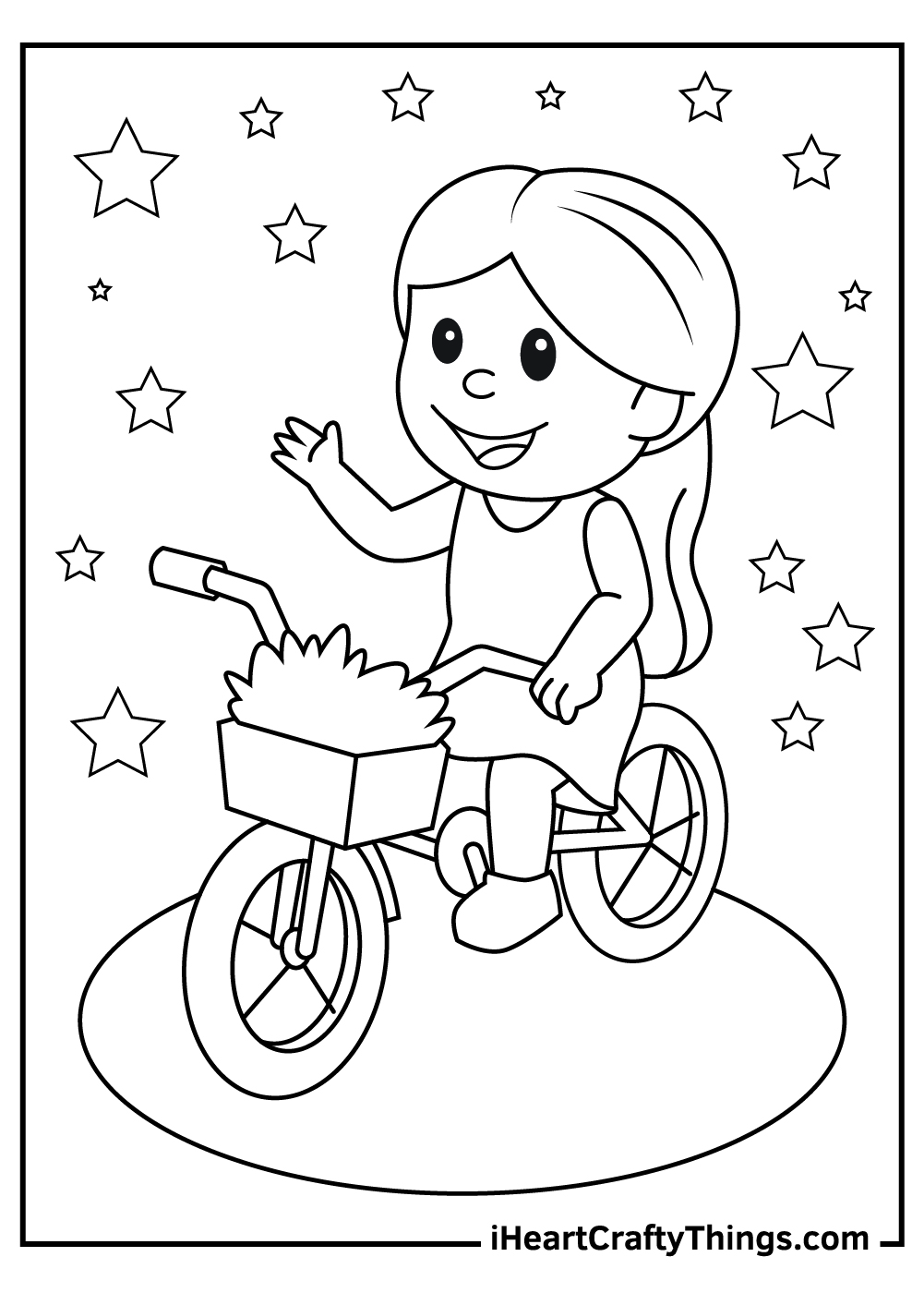 riding bicycle coloring pages free printable