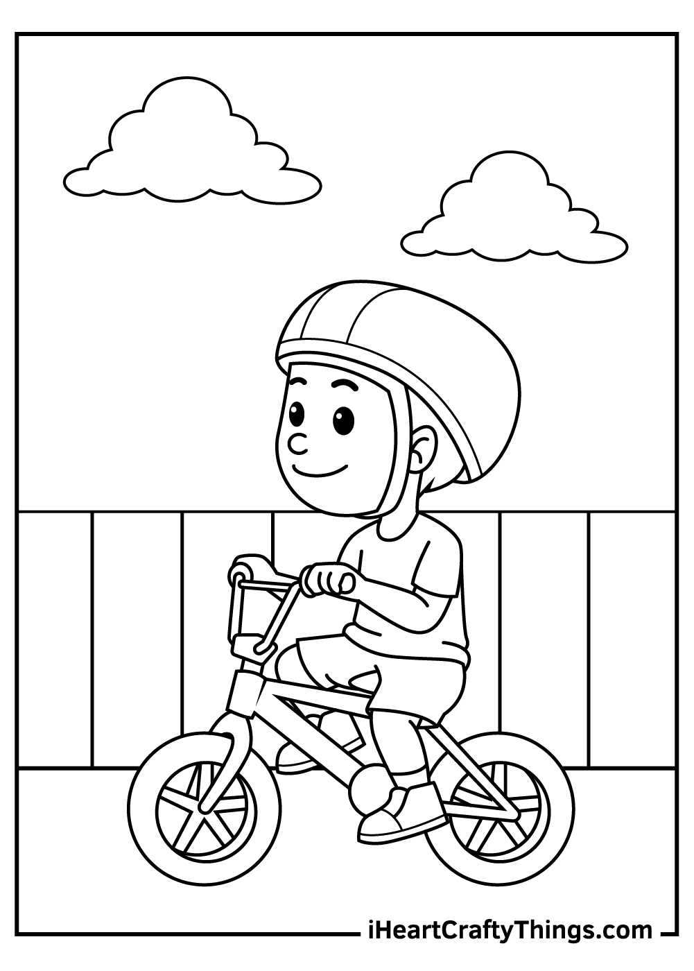 riding bicycle coloring pages free download