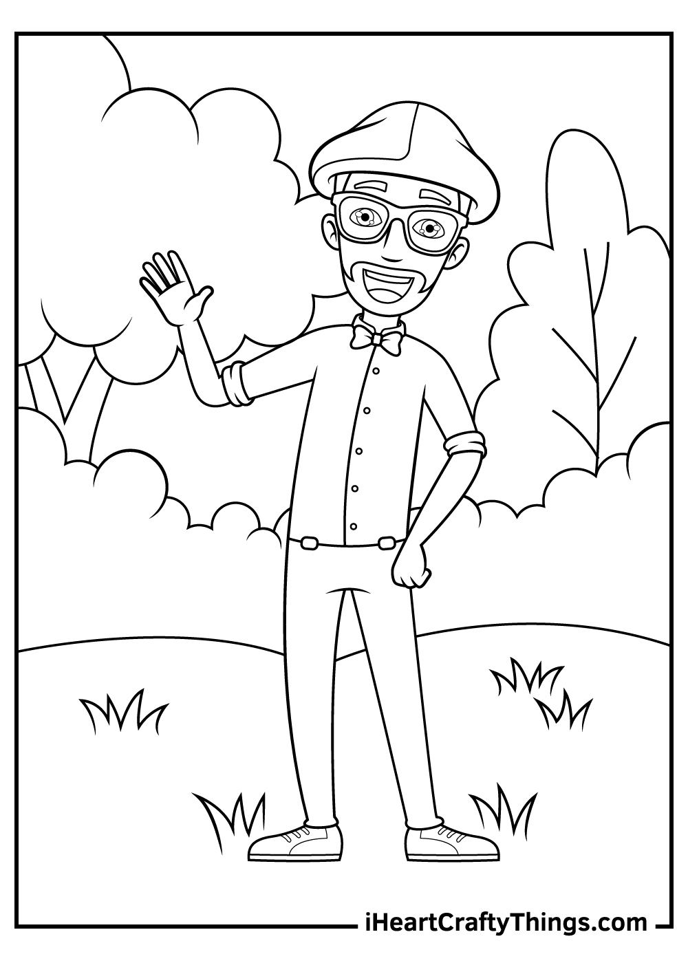 blippi black and white coloring pages