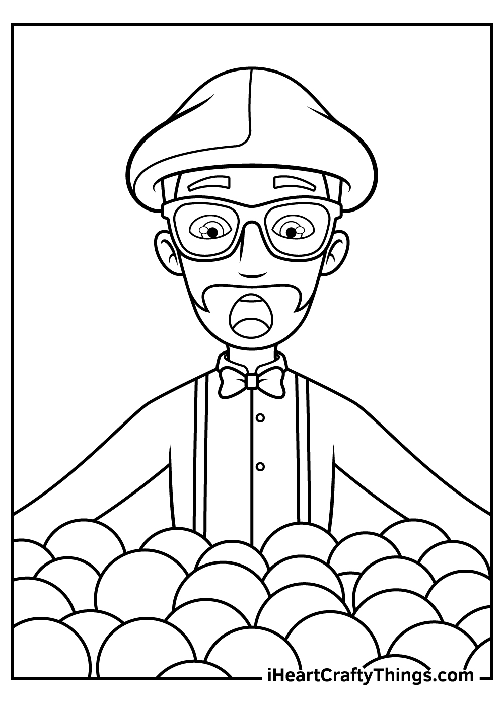 free blippi coloring pages to print out