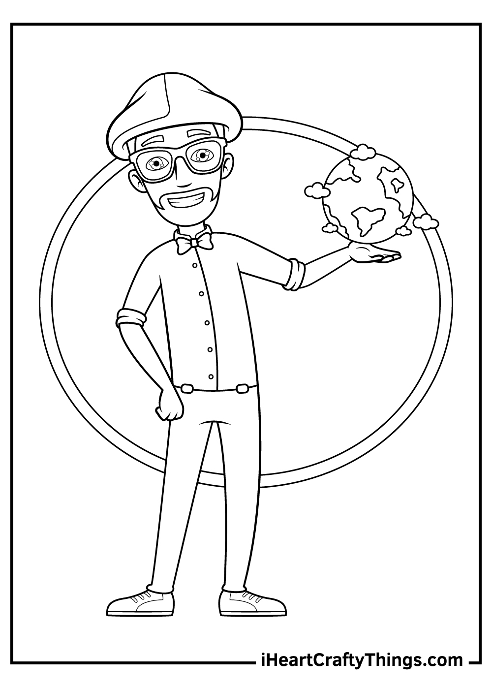 free printable blippi character coloring pages