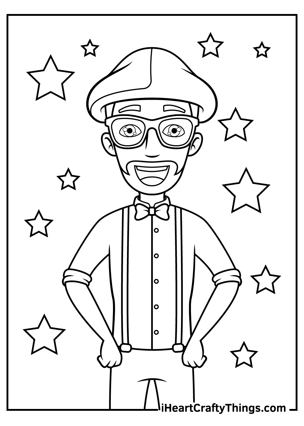 blippi coloring pages pdf