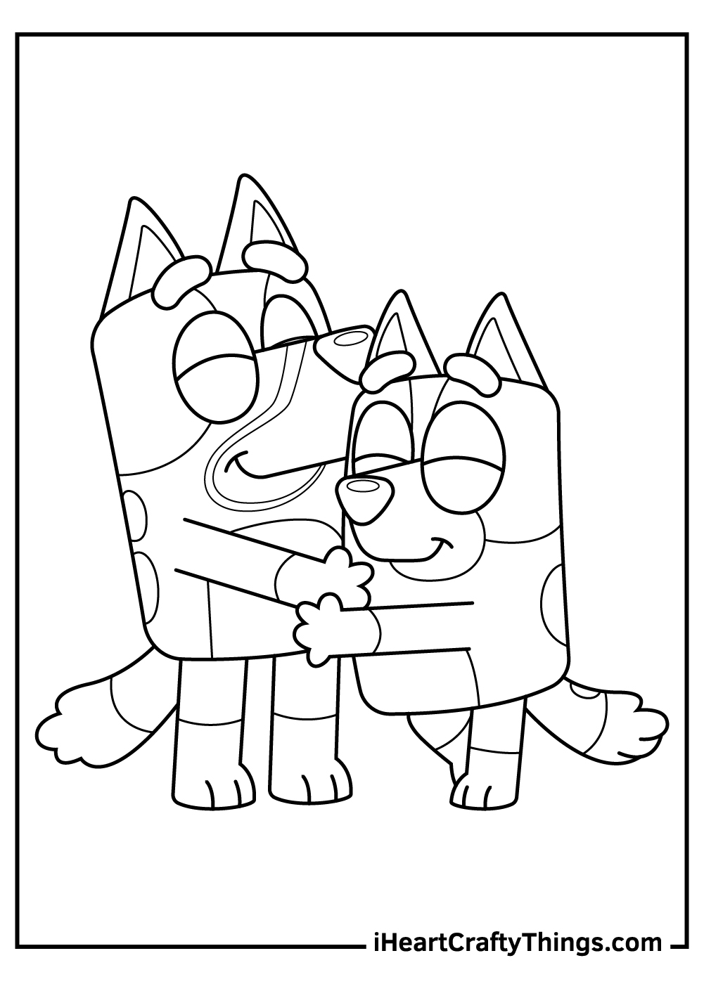 love bluey coloring pages free printables