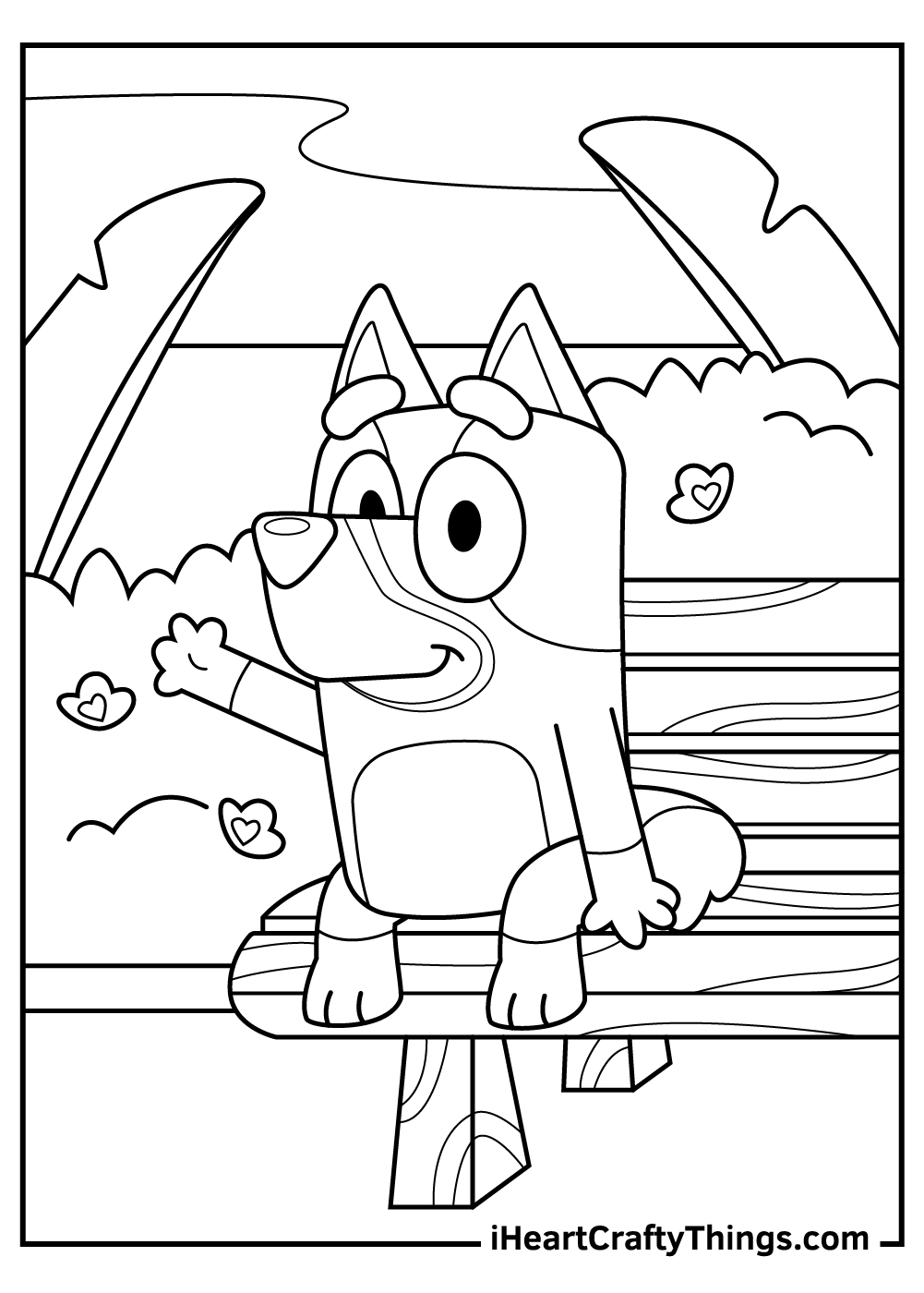 bluey coloring pages free pdf printables