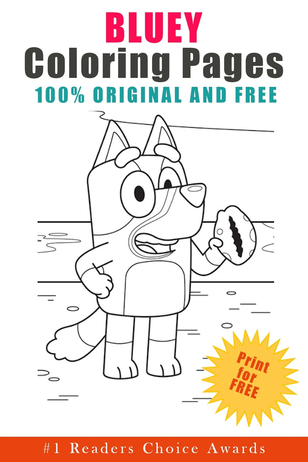 original and free bluey coloring pages