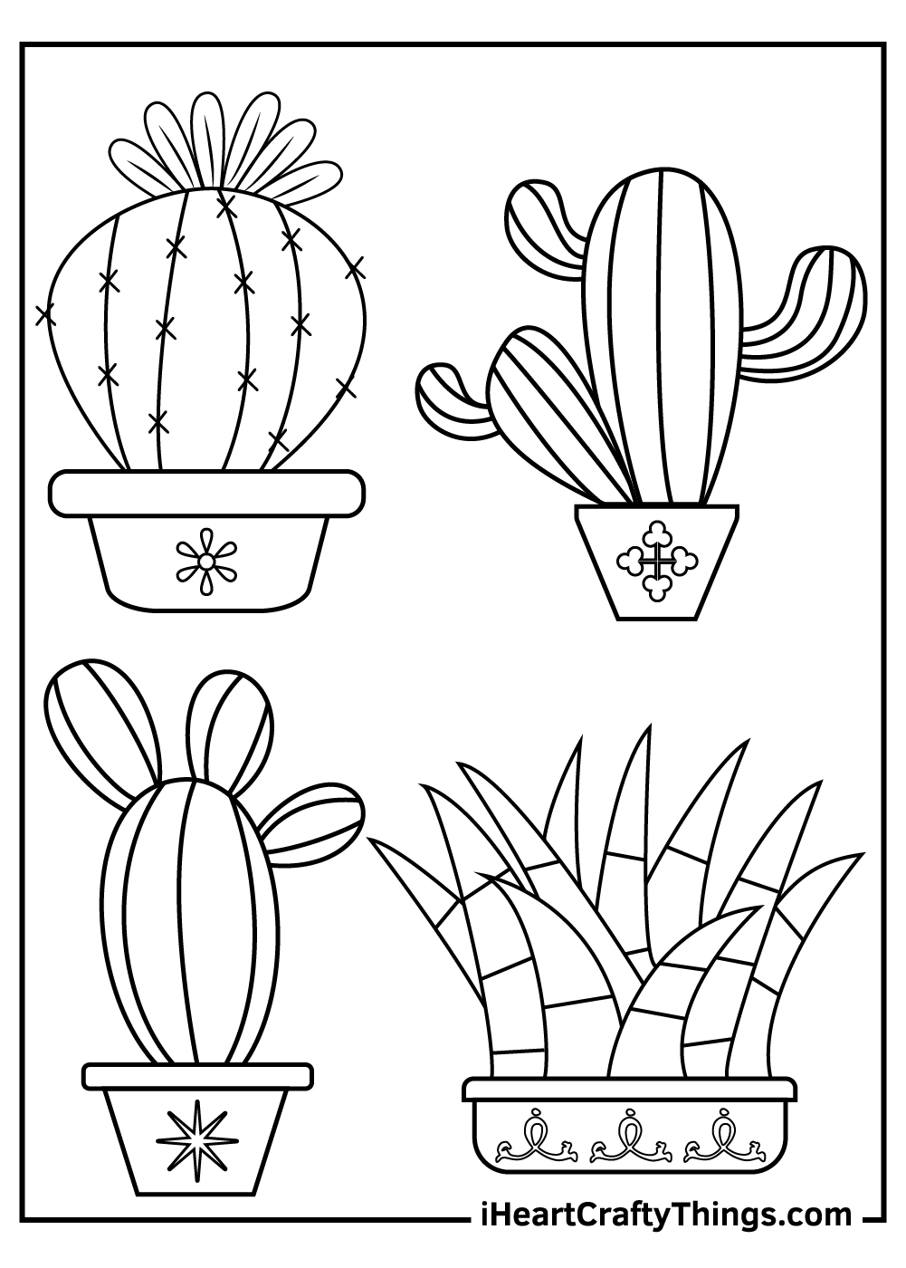 cactus coloring pages for kids download