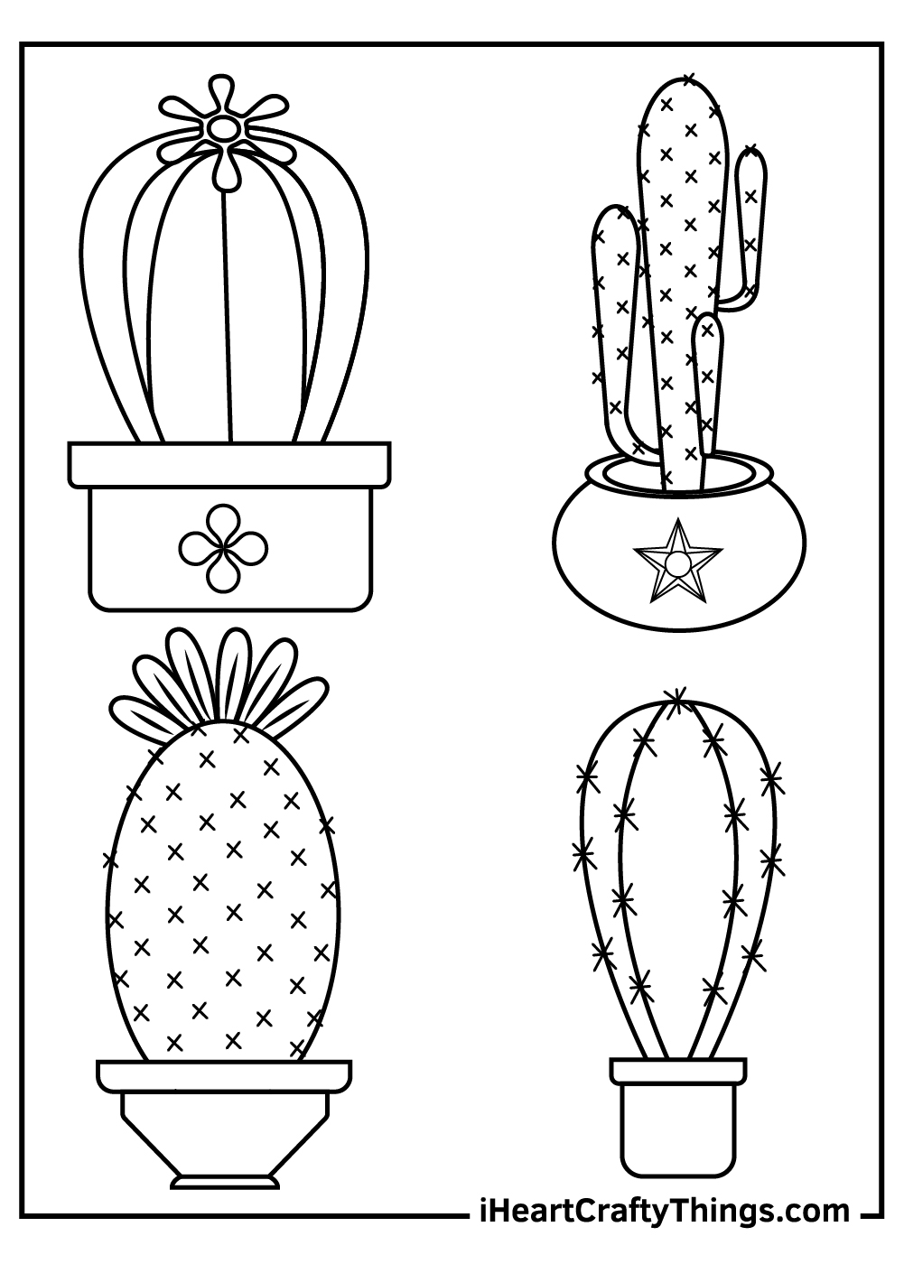 cartoon cactus coloring pages