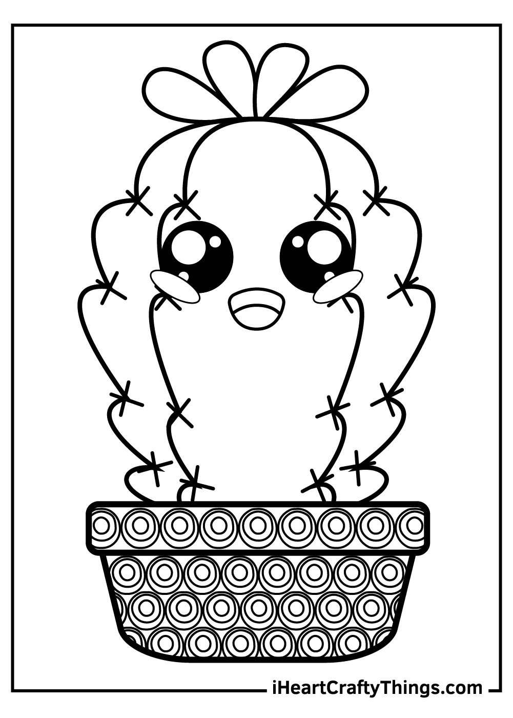 baby cactus coloring pages