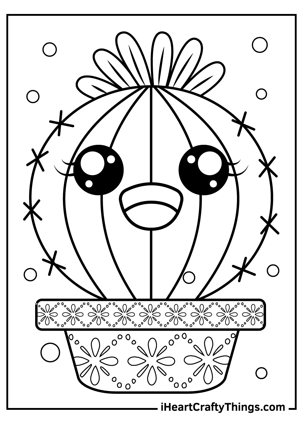 cactus coloring pages for preschoolers