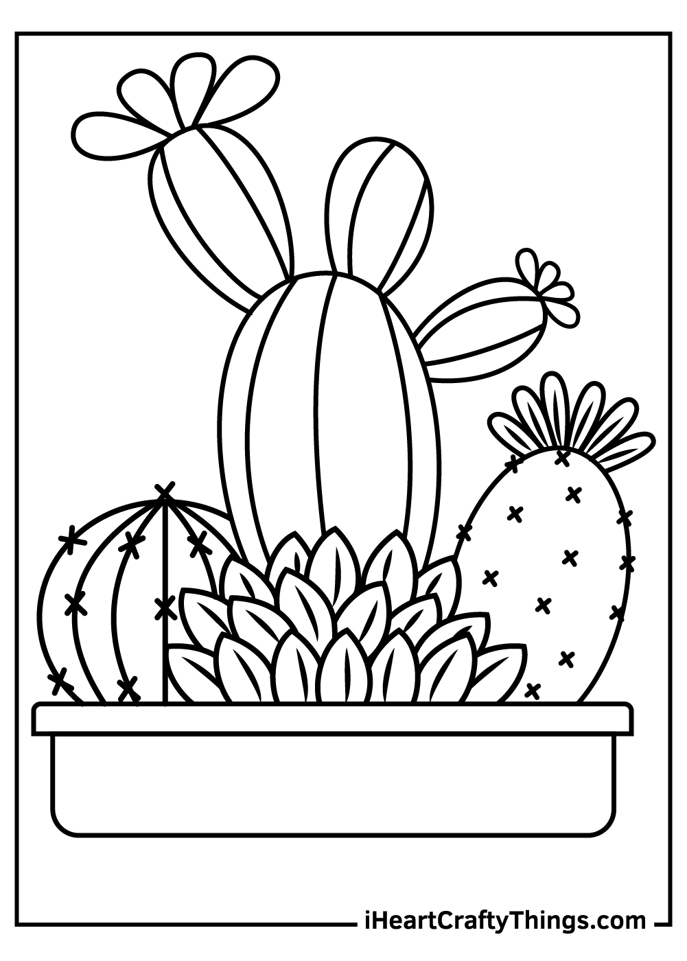 toddler cactus coloring pages free