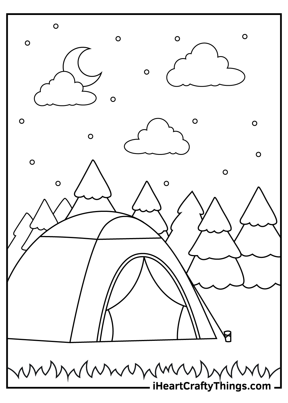 camping coloring pages free pdf