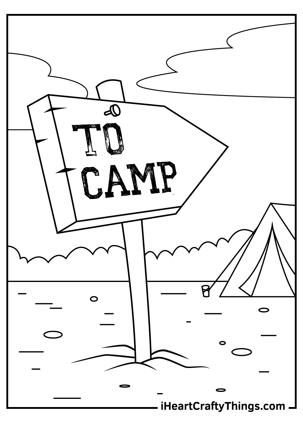camping coloring pages preschool