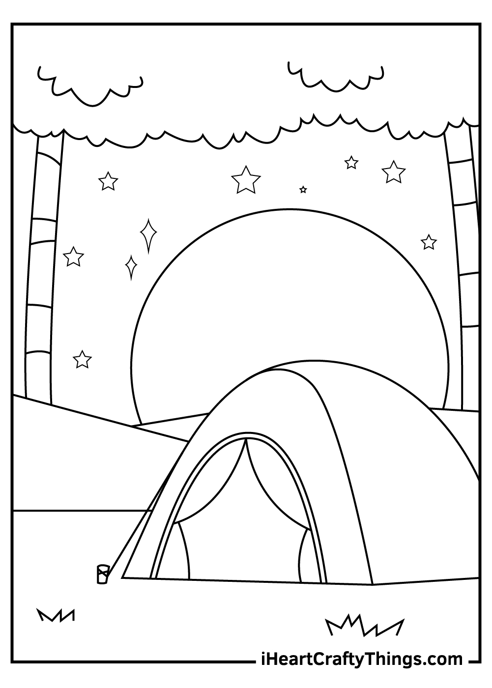 summer camping coloring pages free download