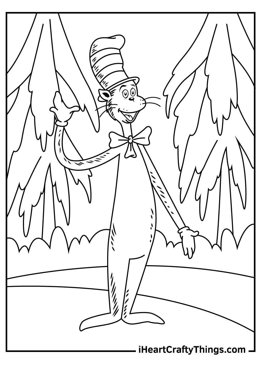 dr seuss characters cat in the hat coloring pages