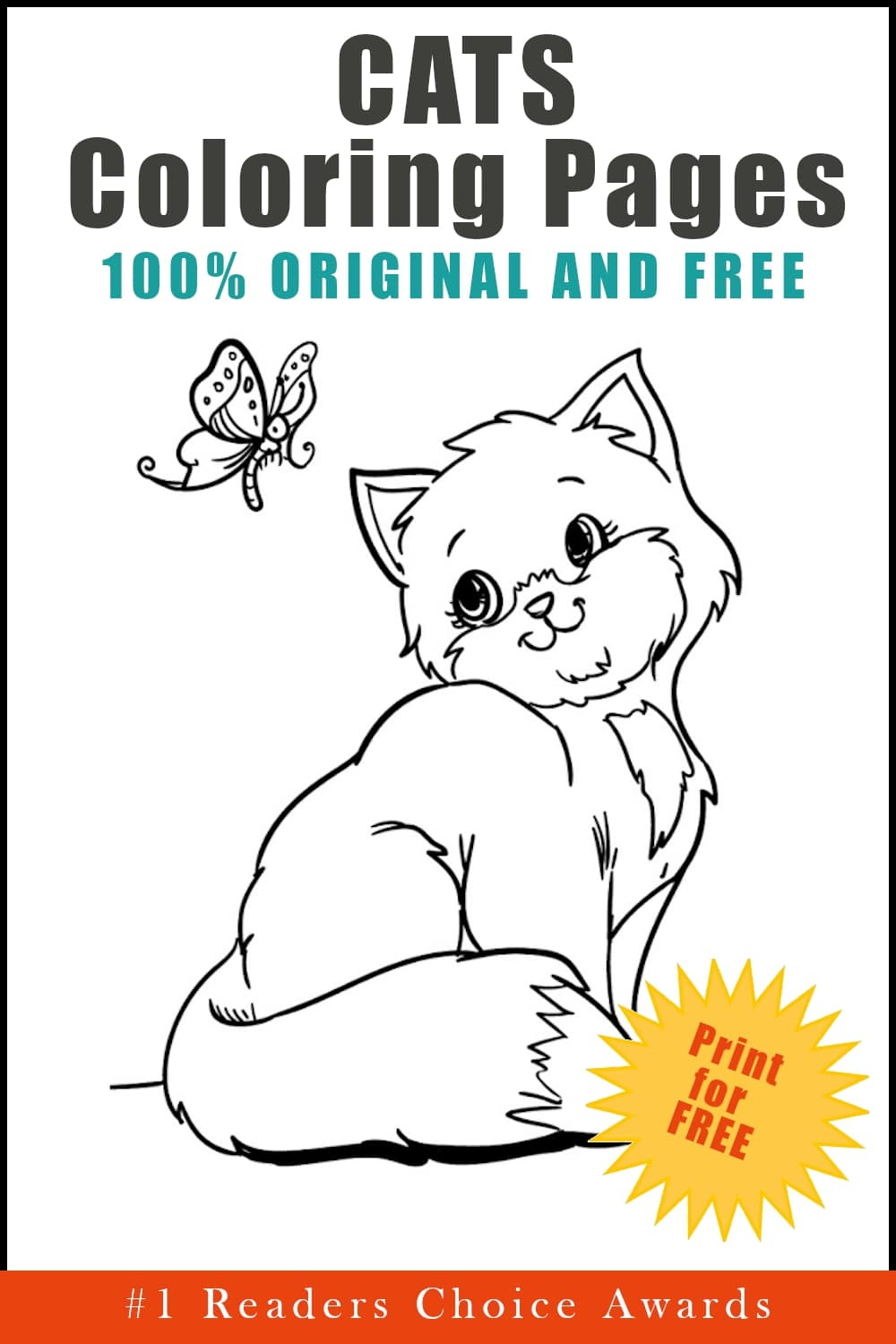 original and free cats coloring pages