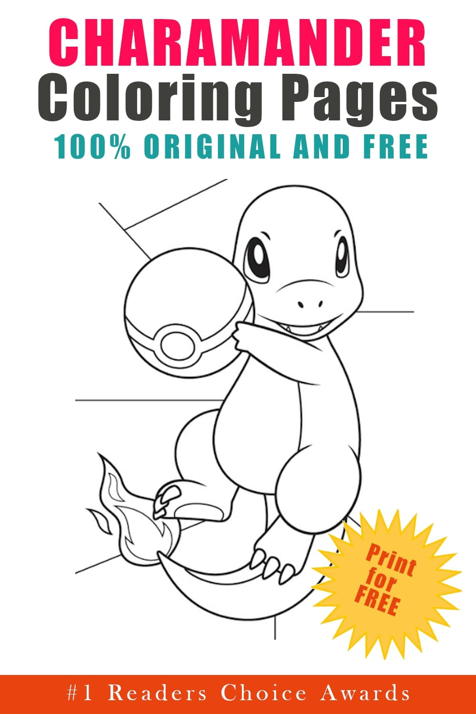 original and free charamander coloring pages