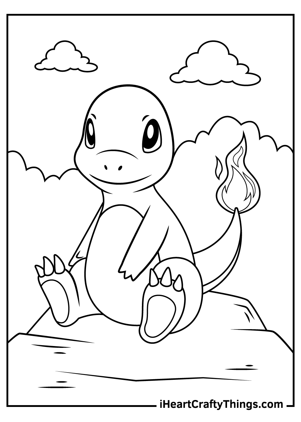 pikachu and charmander coloring pages