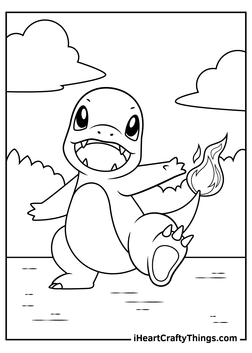 pokemon baby charmander coloring pages