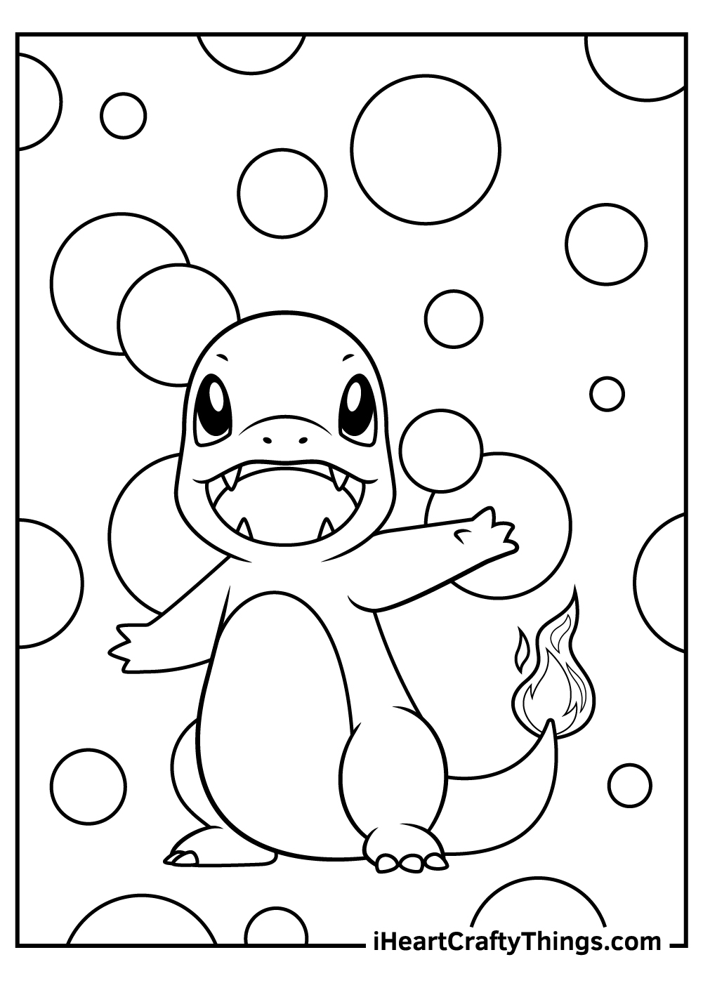 a bunch of charmander coloring pages