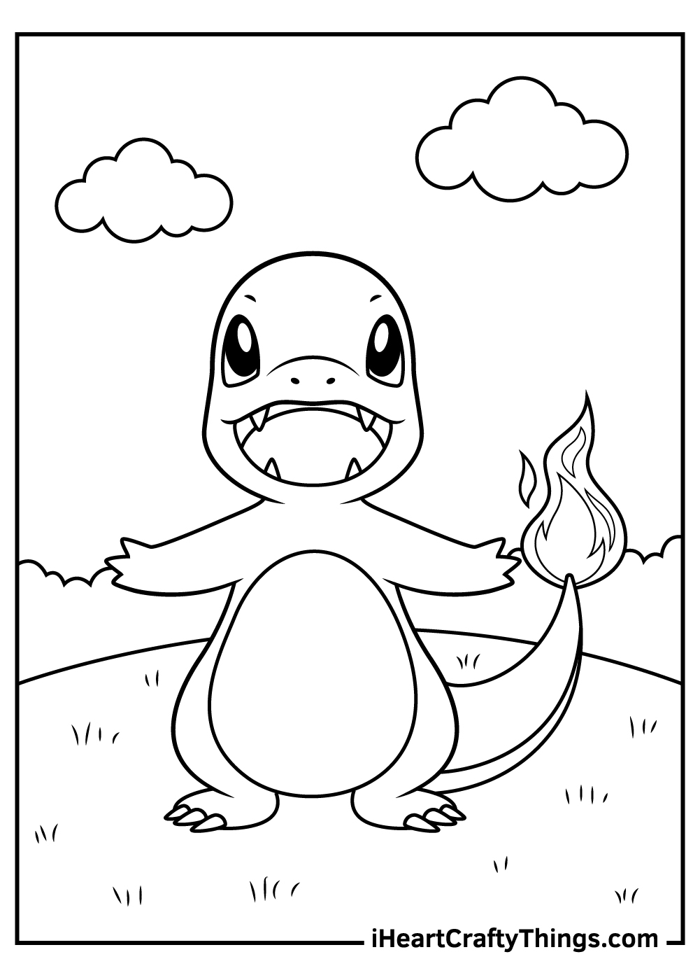 chibi charmander coloring pages free to print out