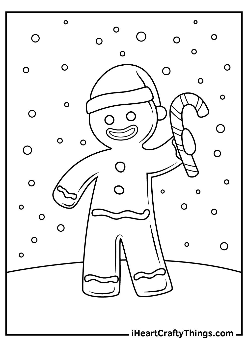 Cute Christmas Gingerbread Coloring Pages