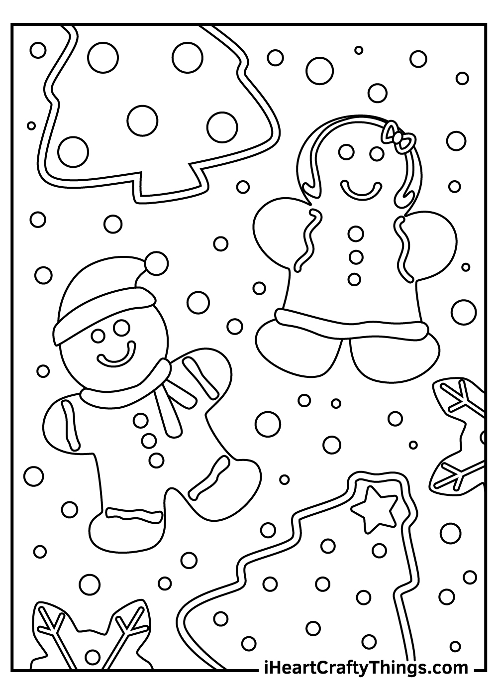 christmas gingerbread coloring pages for toddlers