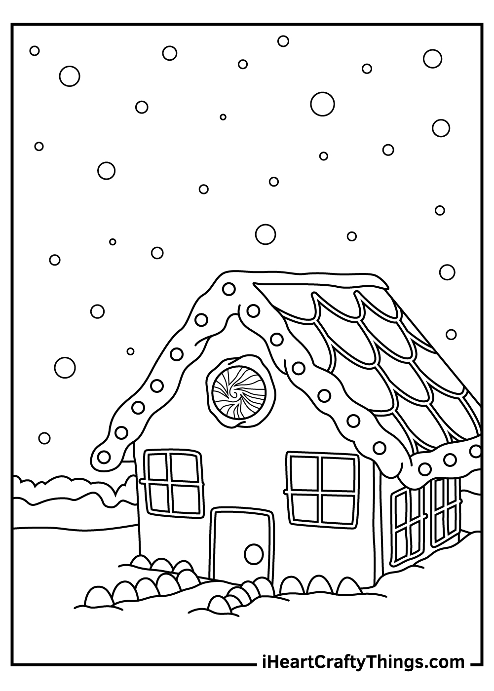 christmas gingerbread coloring pages snowflakes
