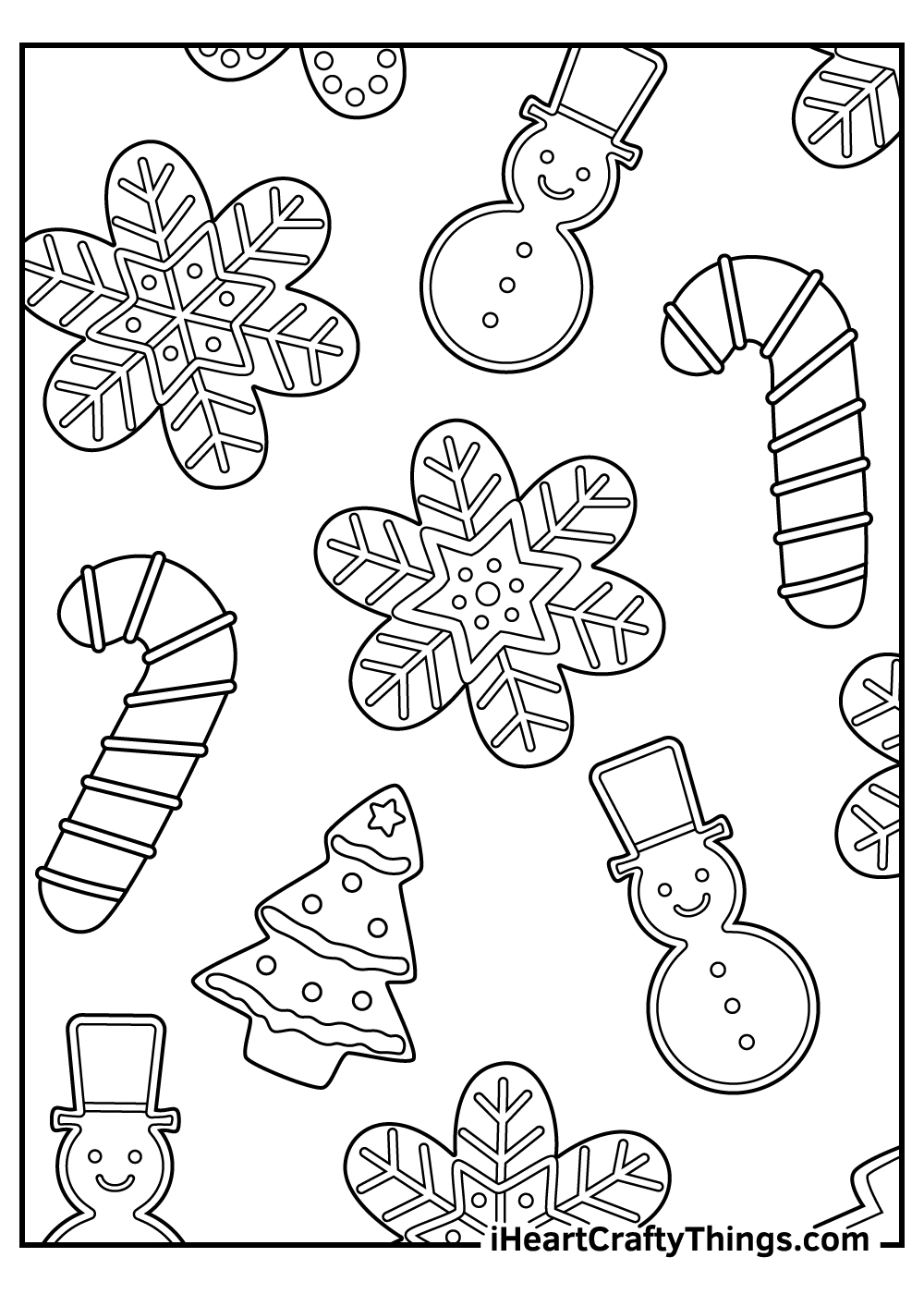 detailed christmas gingerbread coloring pages