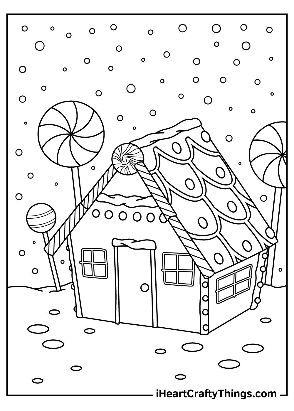 free christmas gingerbread coloring pages for adults