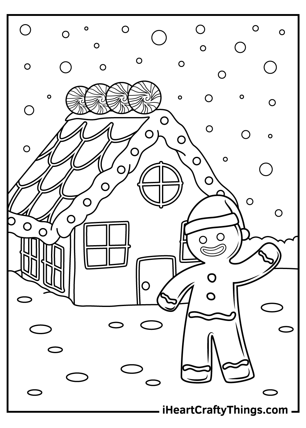 cute christmas gingerbread coloring pages free download