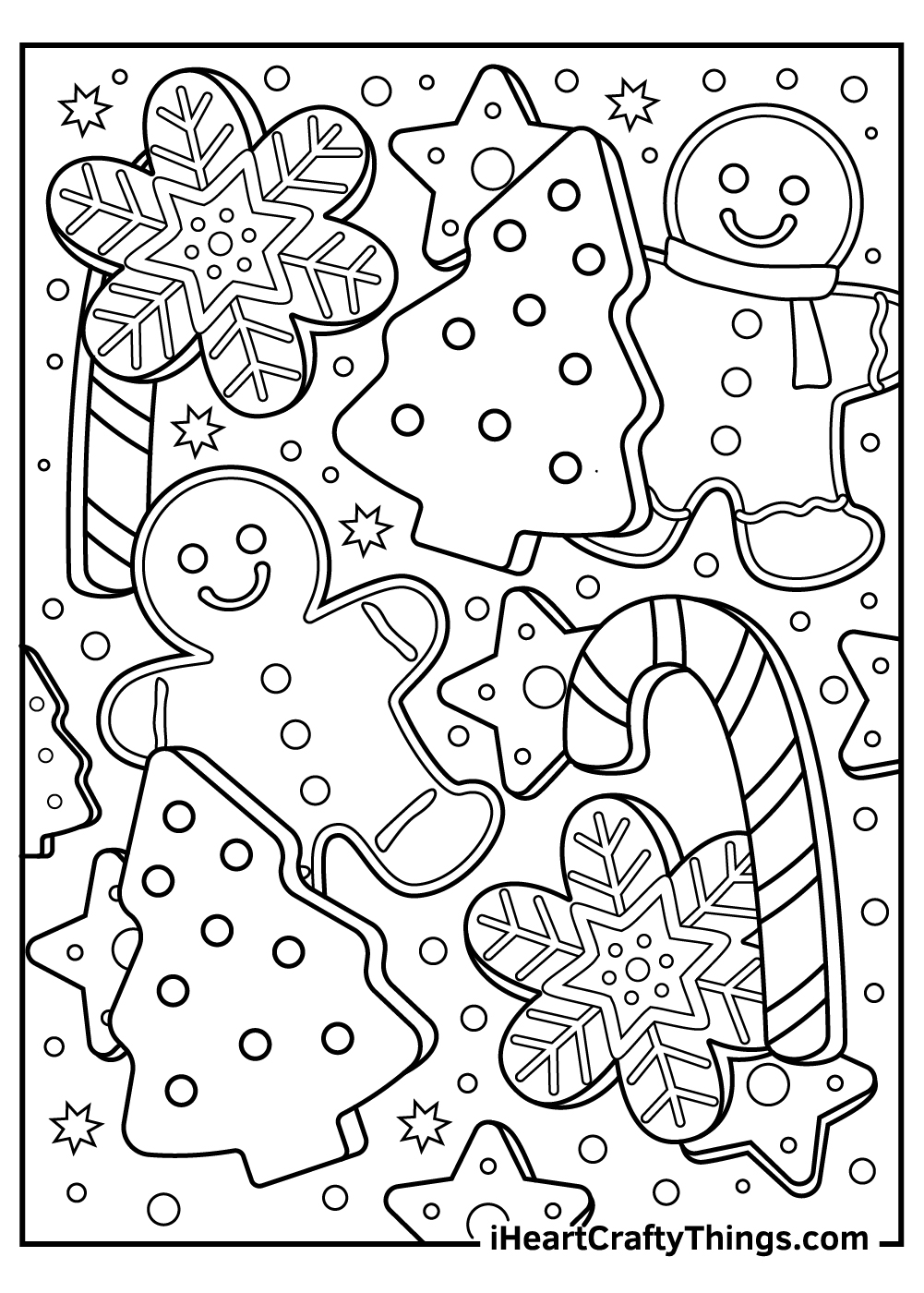 christmas gingerbread coloring pages stockings