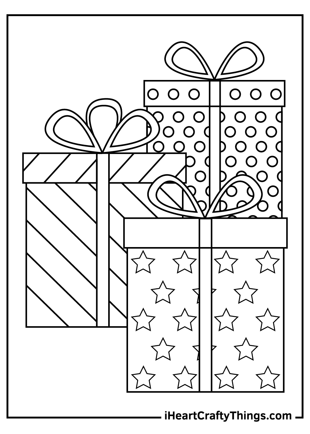 printable christmas present coloring pages