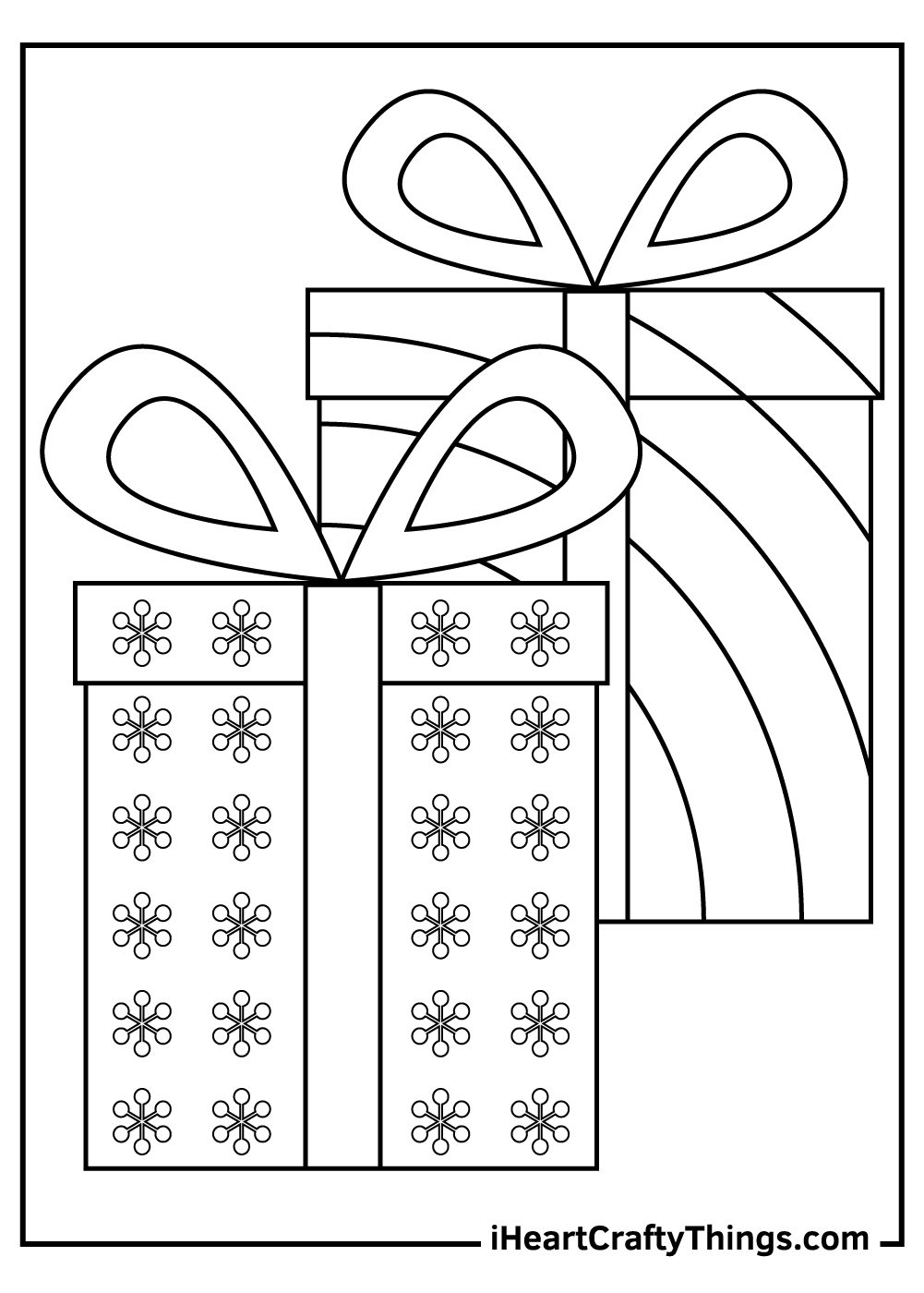 christmas present coloring pages print out