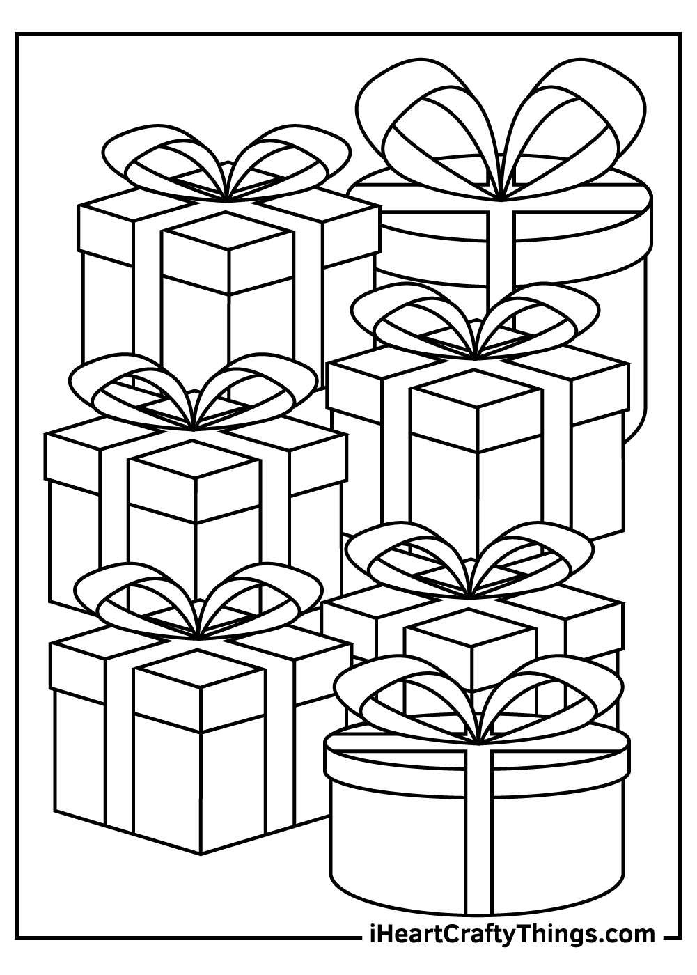 christmas present coloring pages for adults