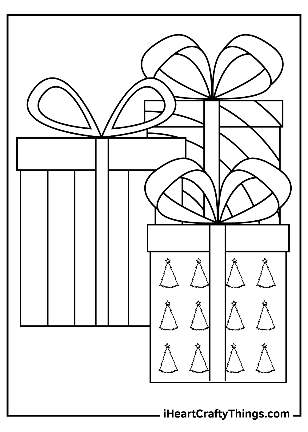 a big christmas present coloring pages