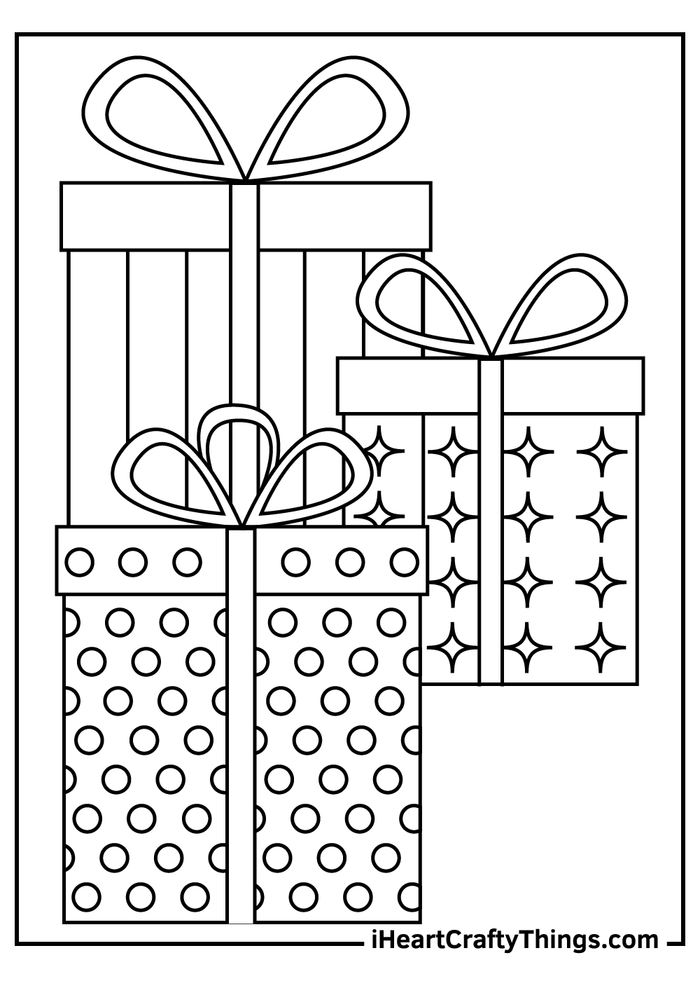free printable christmas present coloring pages