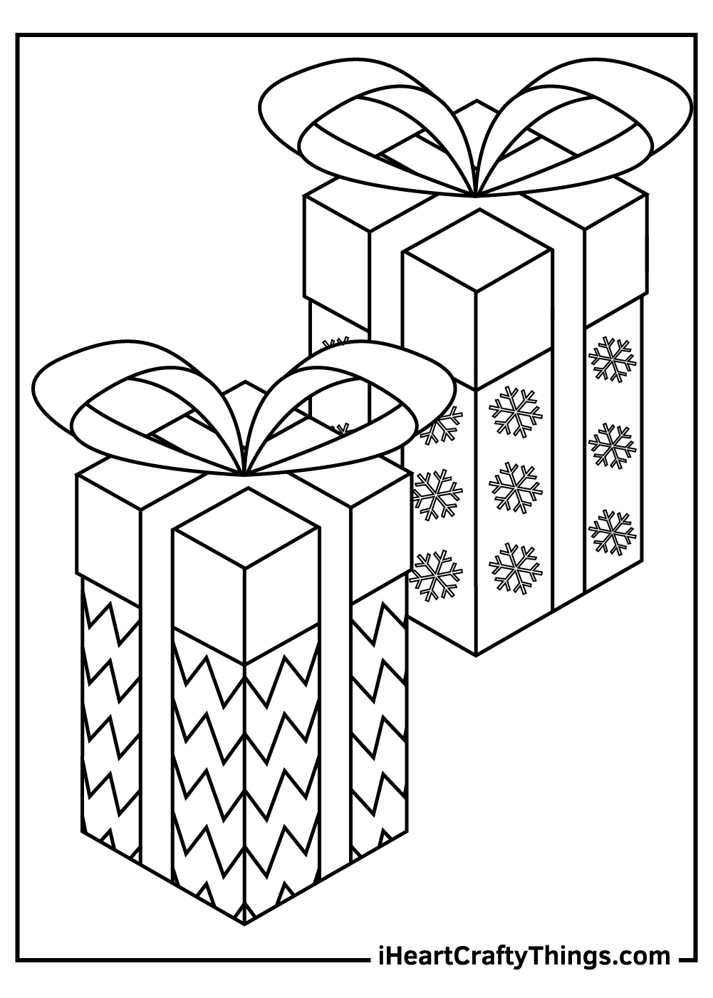 opening christmas present coloring pages free pdf
