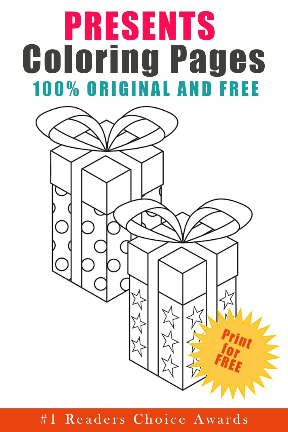 original and free christmas presents coloring pages