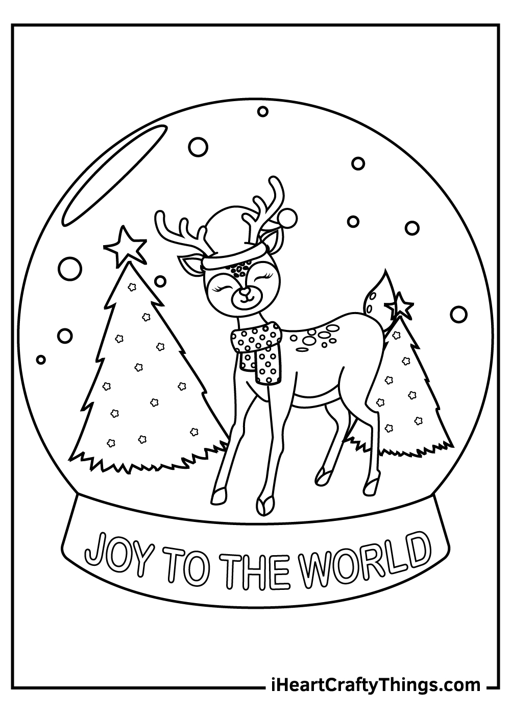 christmas reindeers coloring pages black and white
