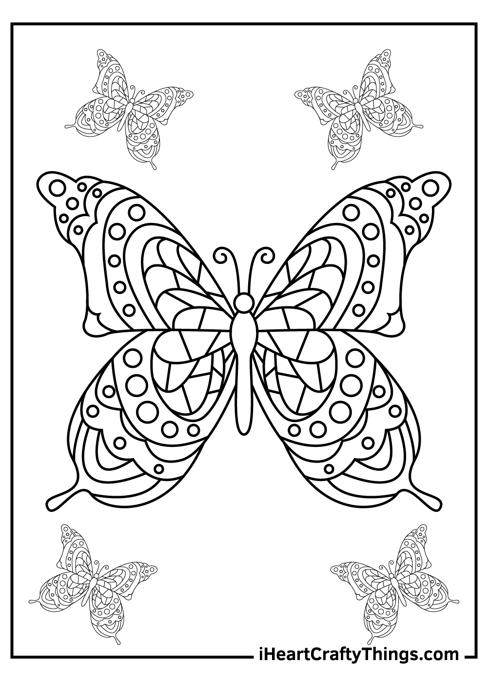 butterfly coloring for toddlers coloring pages free printables