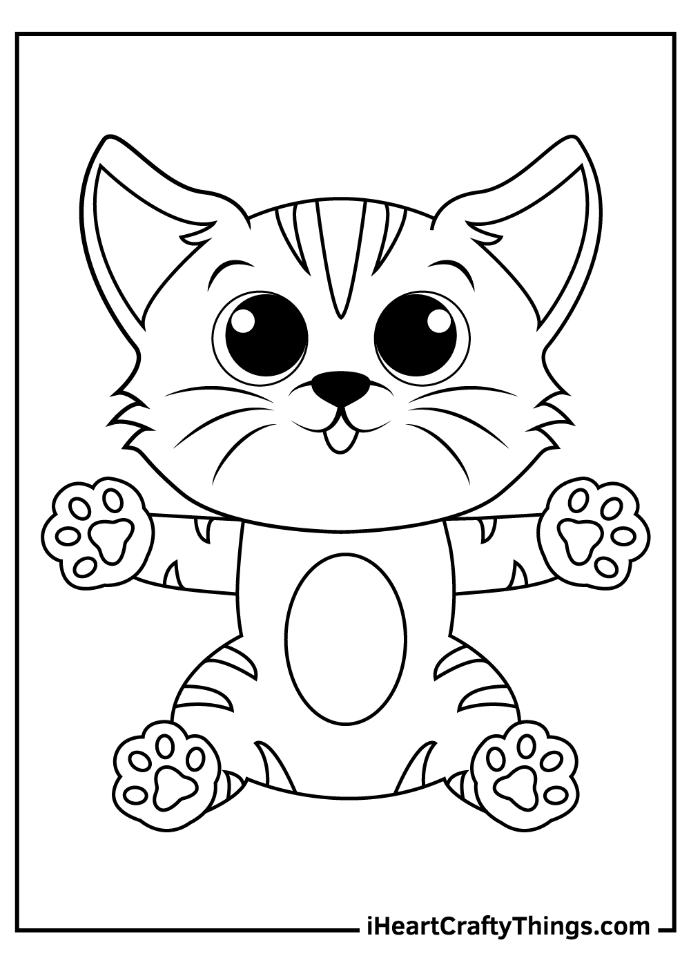 kitten coloring for toddlers coloring pages free download