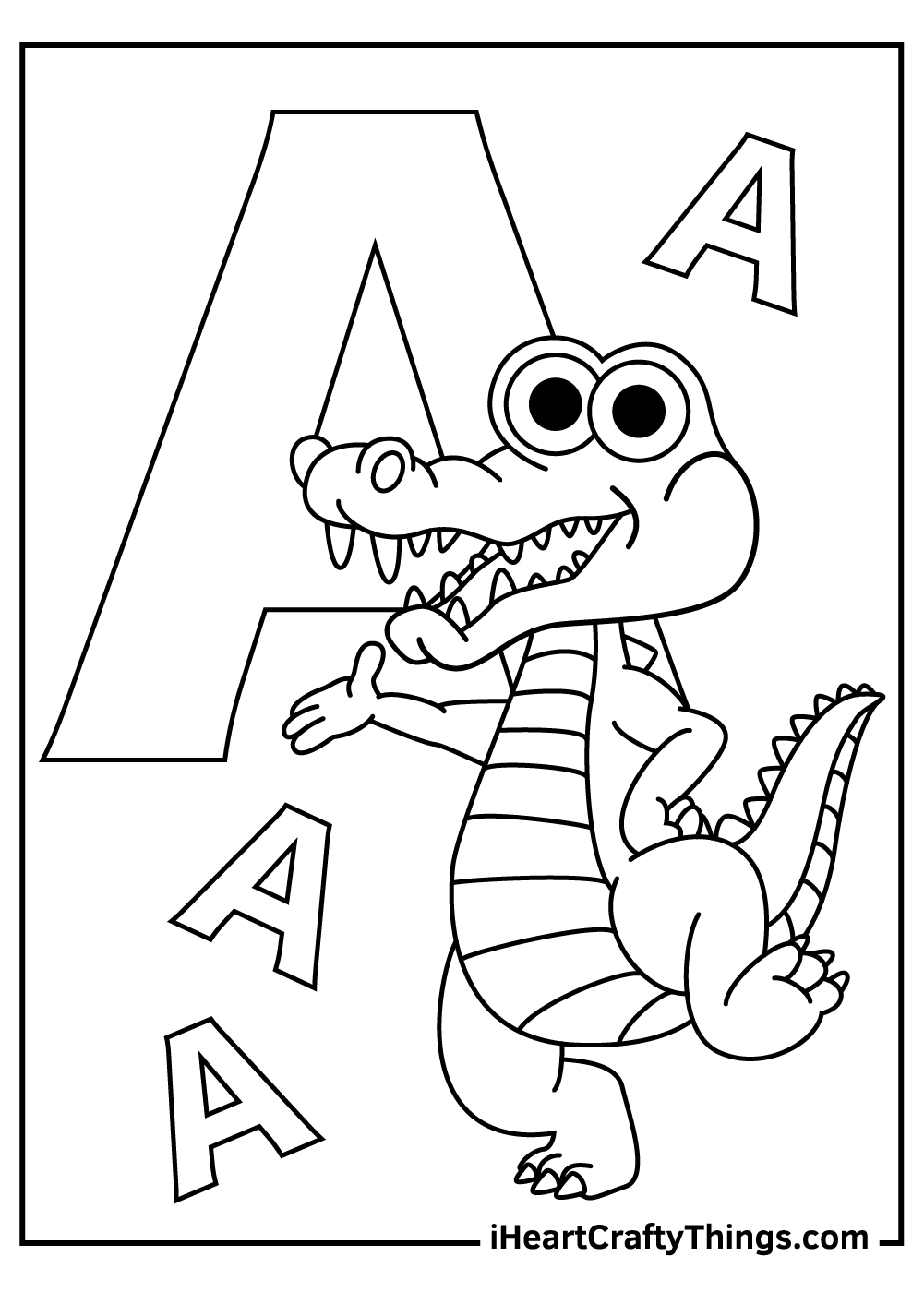 a is for alligator coloring for toddlers coloring pages free