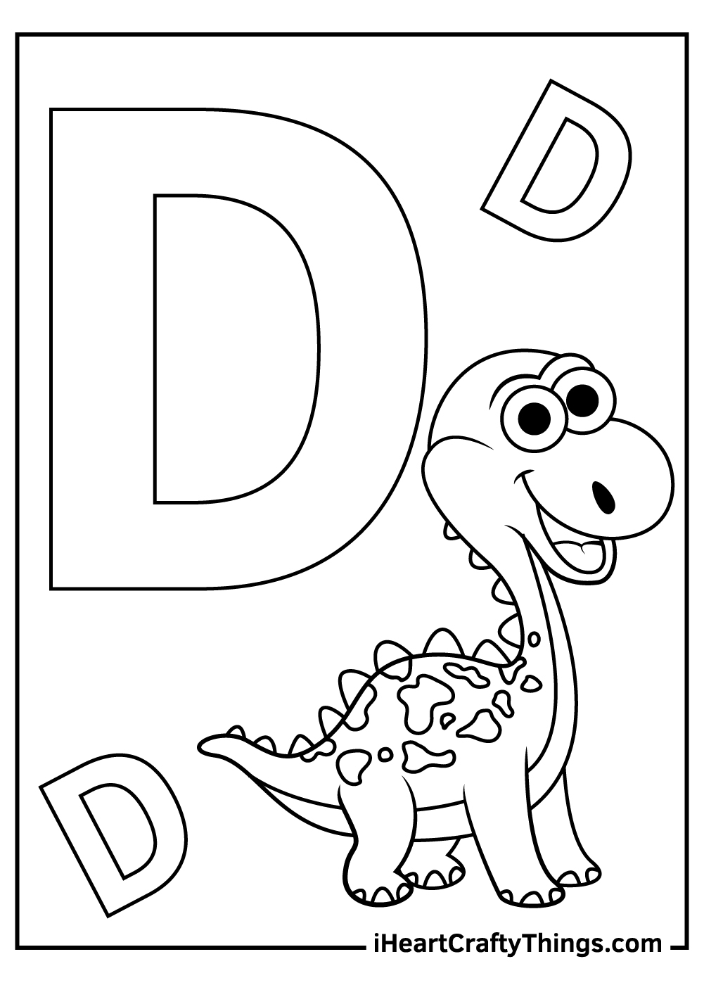 d is for dinosaur coloring for toddlers coloring pages free