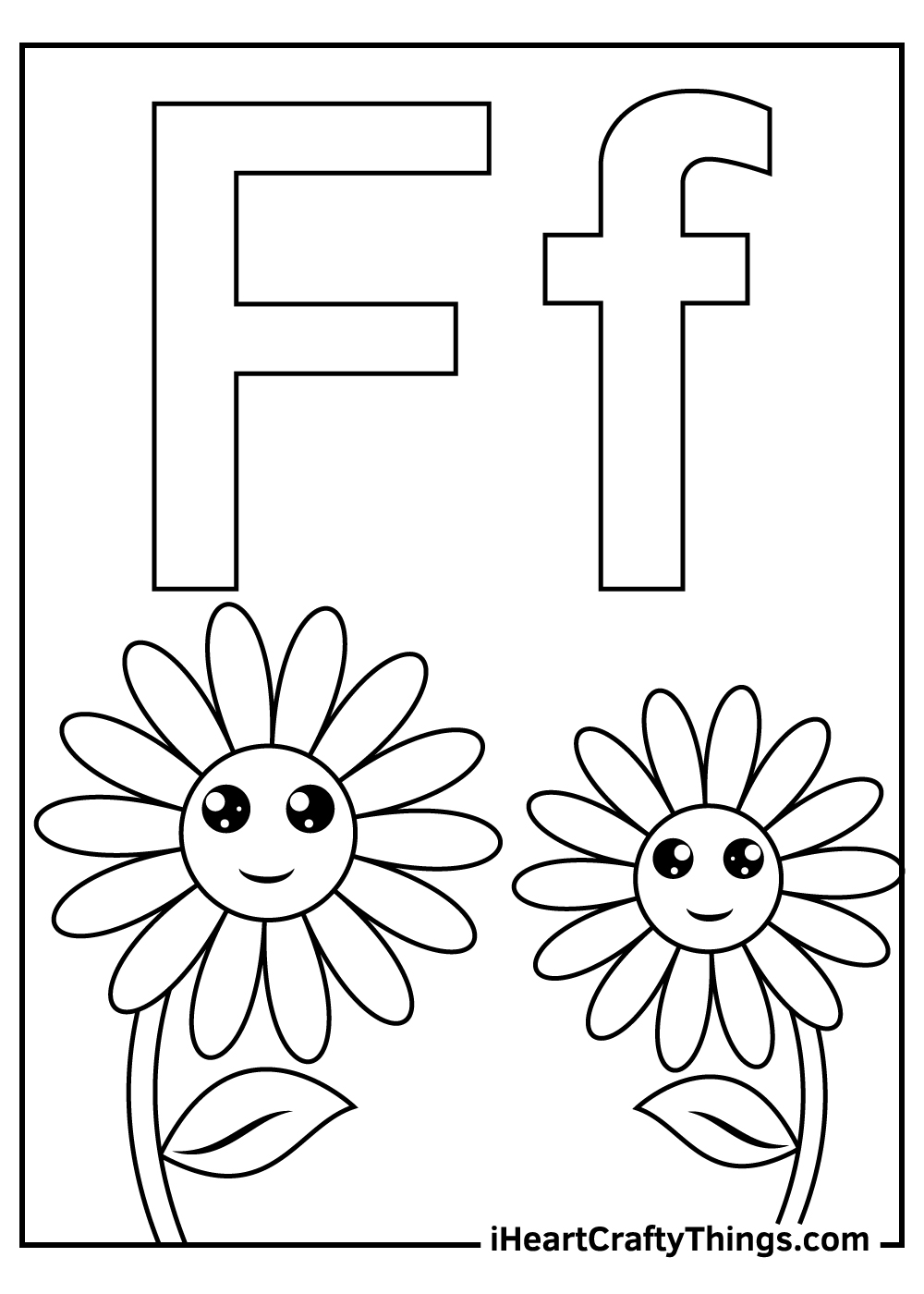 f is for flower coloring for toddlers coloring pages free