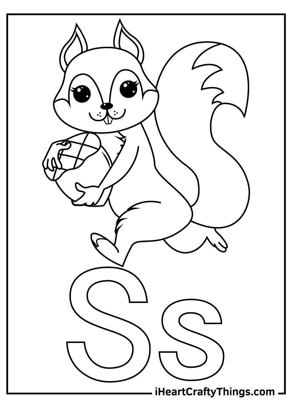 s is for squirrel coloring for toddlers coloring pages free