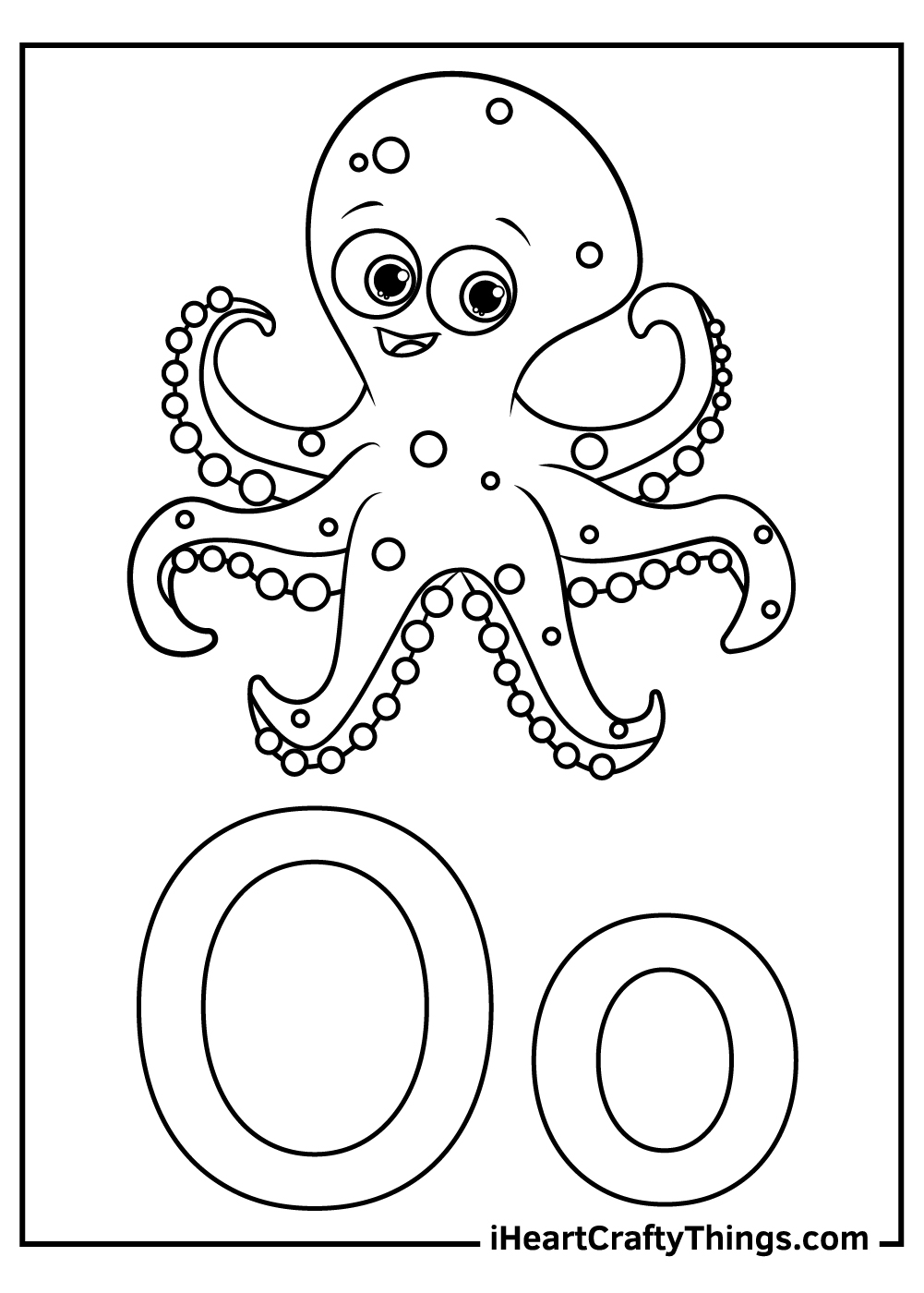 o is for octopus coloring for toddlers coloring pages free