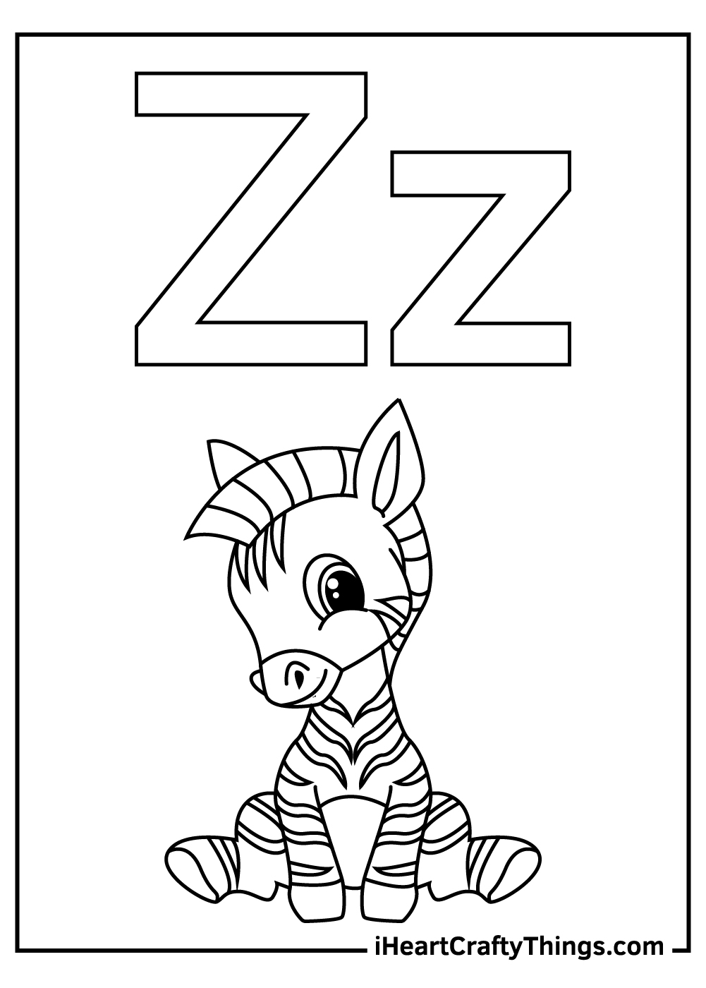 z is for zebra coloring for toddlers coloring pages free