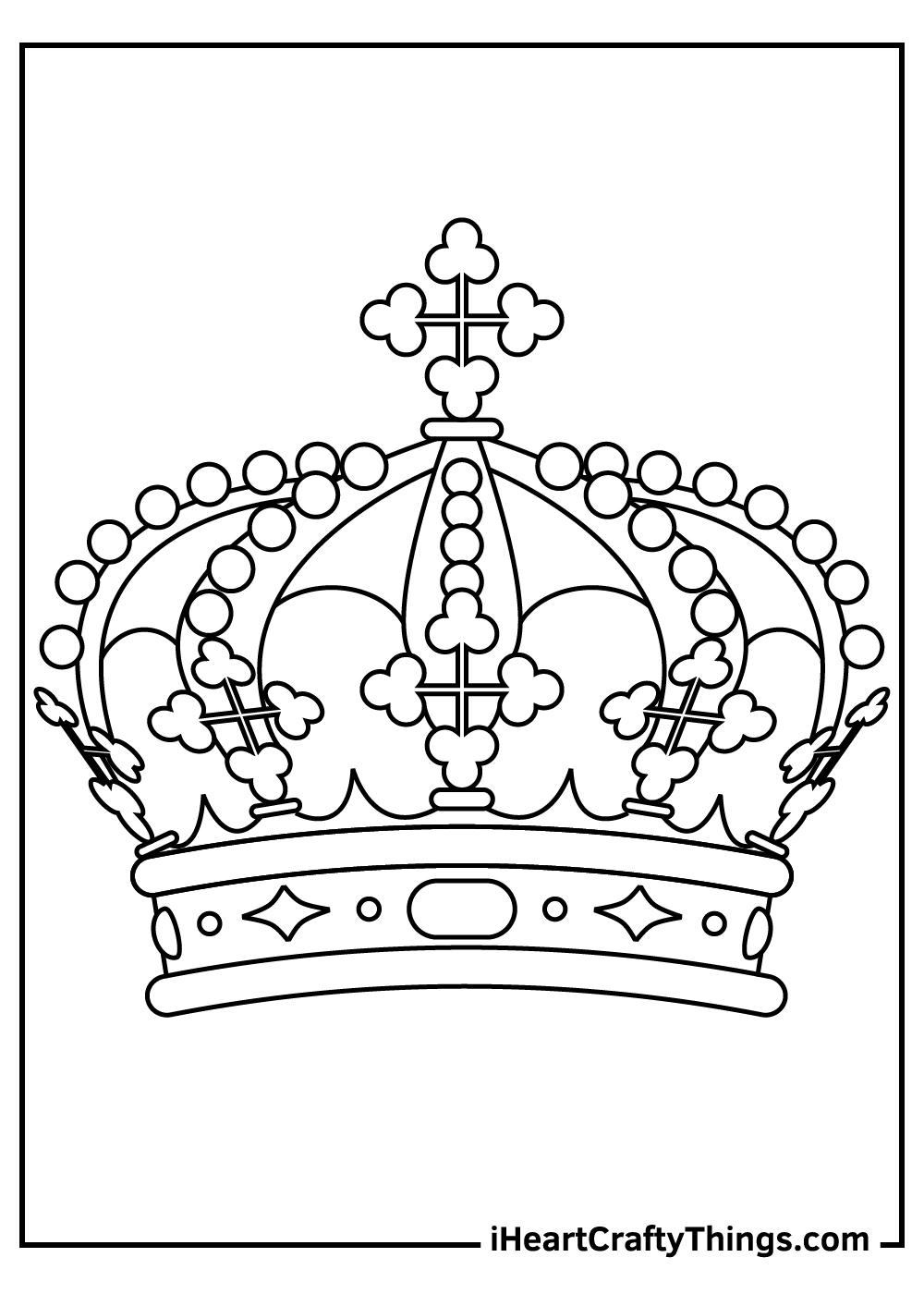 princess crown coloring pages free printable