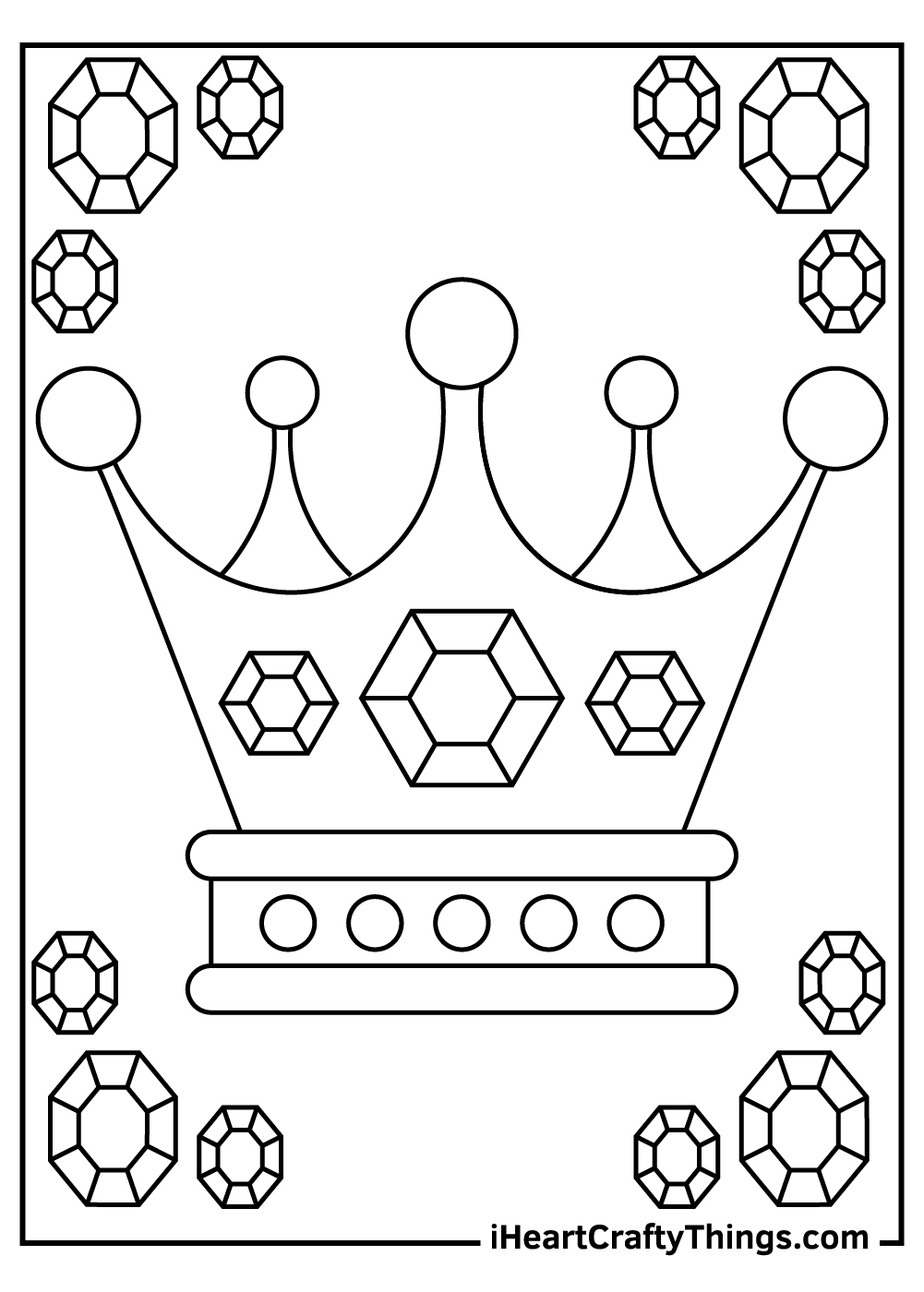 queen crown coloring pages free download