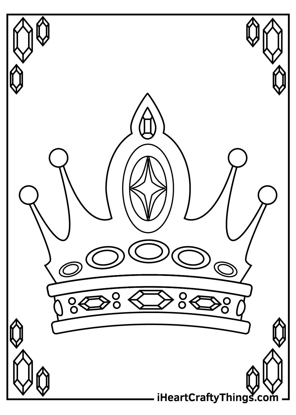 king crown coloring pages free printable